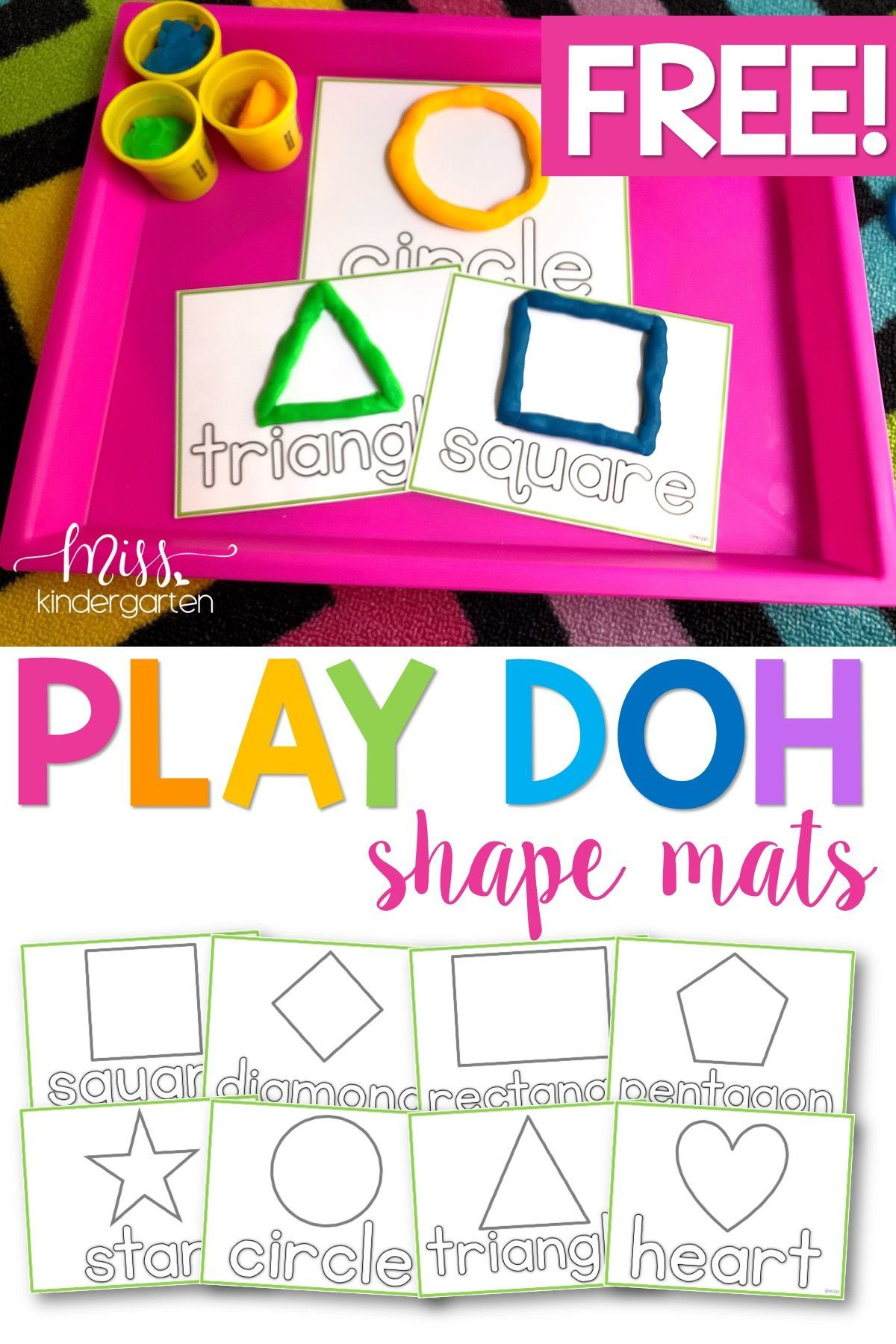 These Play Doh Mats Free Printables Are Perfect Activites For Your Kids When Learning Shape Activities Kindergarten Toddler Learning Activities Learning Shapes [ 1800 x 1200 Pixel ]