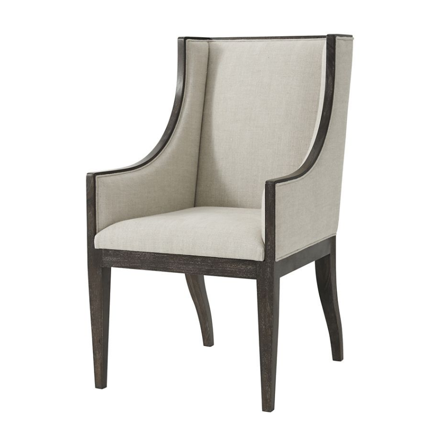 Modern Upholstered Dining Armchair With Images Dining Arm