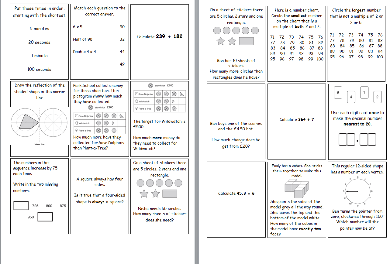 Year 6 Maths Sats Revision Game