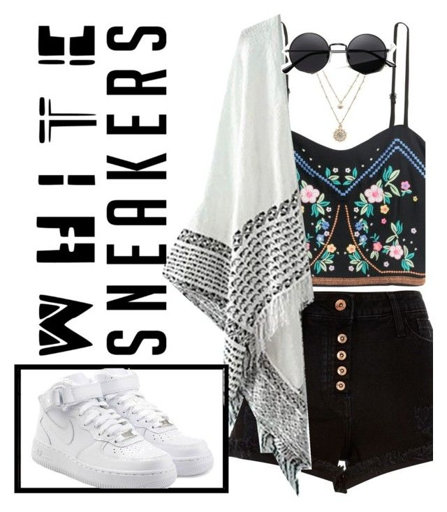 """""""White Sneakers Contest"""" by guest114 ❤ liked on Polyvore featuring River Island, NIKE and LC Lauren Conrad"""