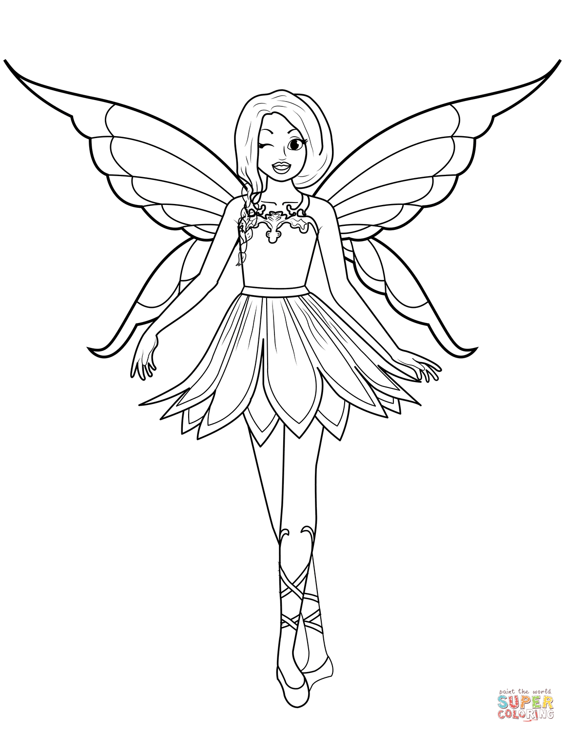 Free Fairy Pictures To Color