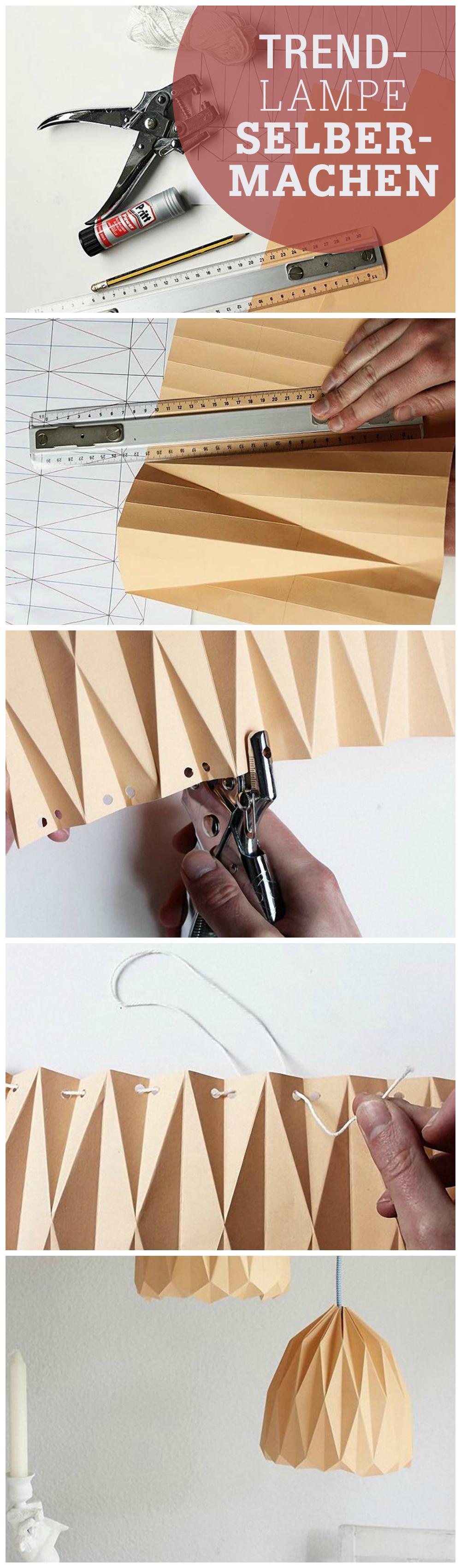 DIY-Anleitung: Origami-Lampenschirm zum Aufhängen falten via ...