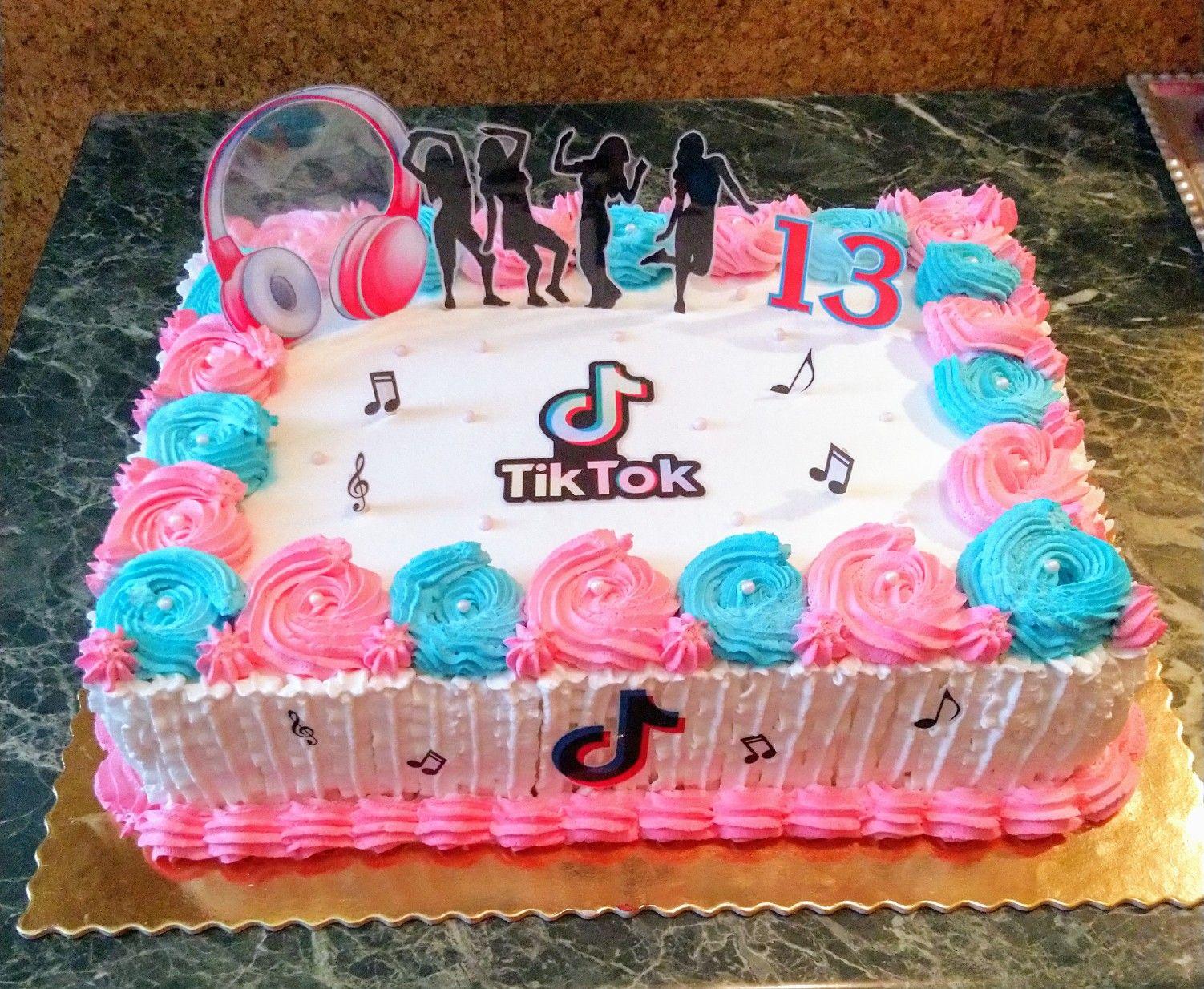 Tik Tok Torta Cool Birthday Cakes Special Birthday Cakes Birthday Sheet Cakes