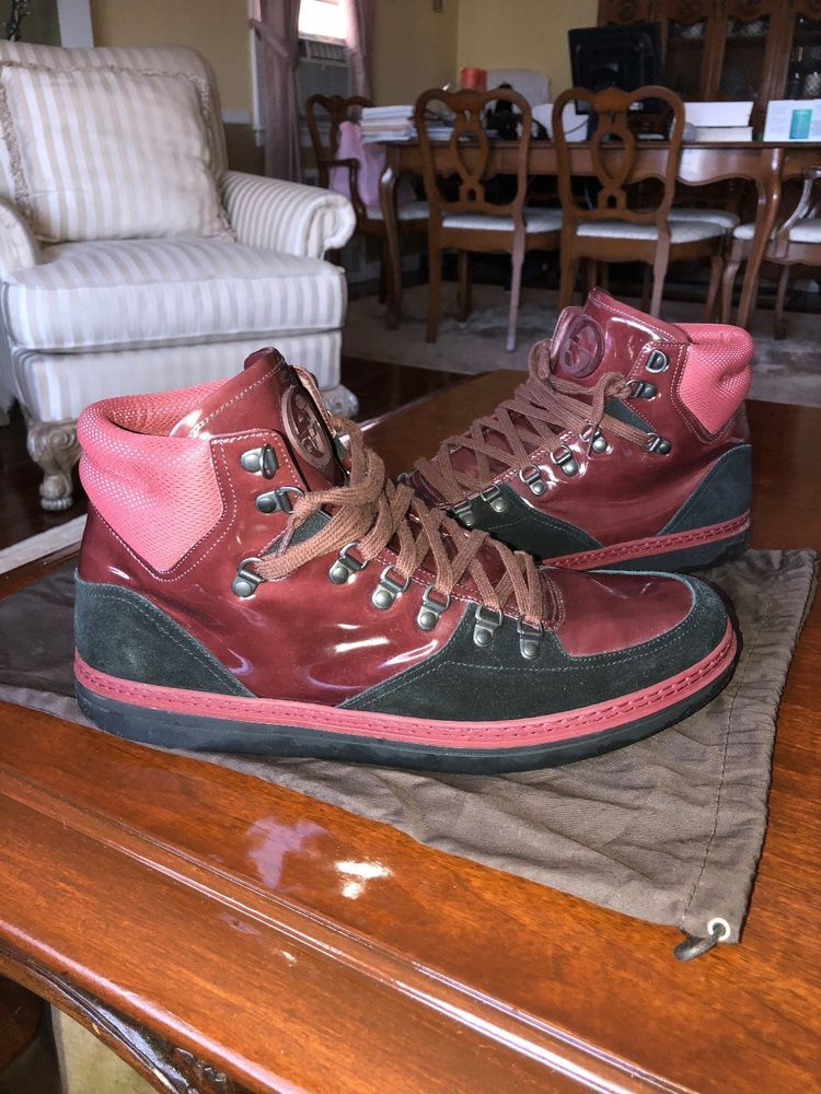 9e9f37009 Authentic Gucci High Top Sneaker 368496 Mens Size 11.5 Burgundy #fashion  #clothing #shoes #accessories #mensshoes #casualshoes
