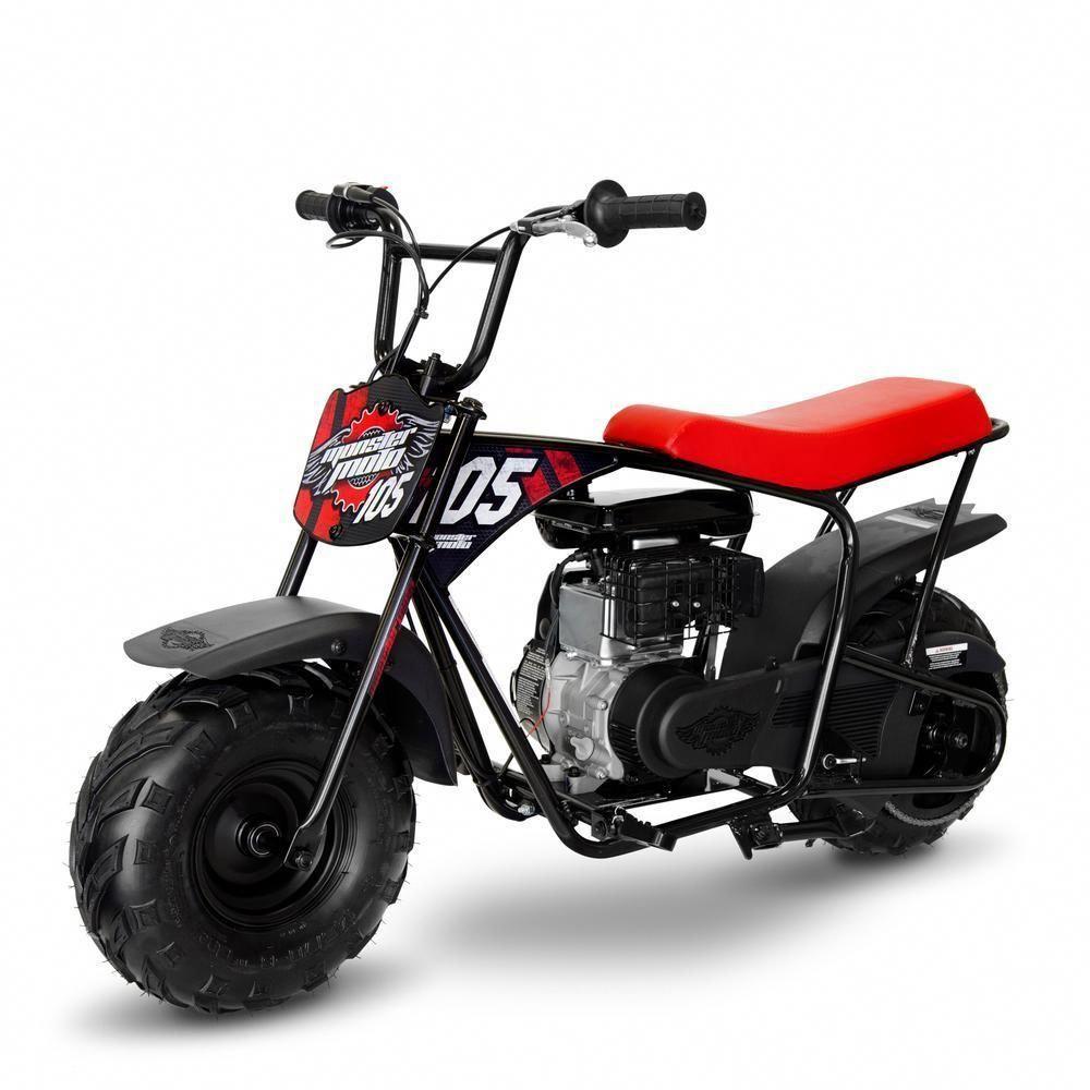 Classic Red And Black 105cc Gas Mini Bike
