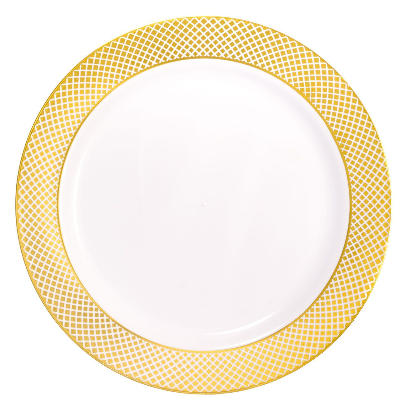 Plastic 10 1/4 Inch White Dinner Plate with Gold Diamond Band/Case of  sc 1 st  Pinterest & Plastic 10 1/4 Inch White Dinner Plate with Gold Diamond Band/Case ...