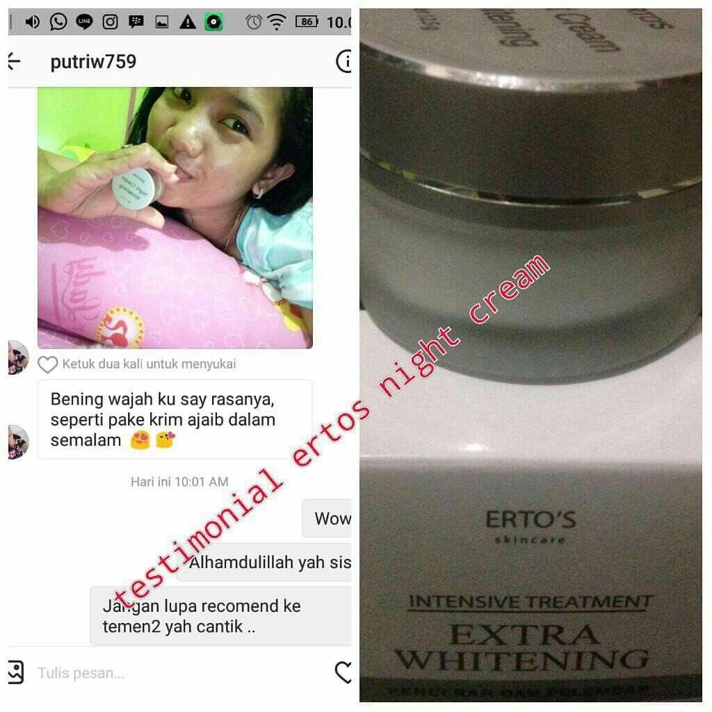 Ertos Night Cream Harga Rp 100000 Berat 125gr No Bpom Na Pemutih Badan Body Gold 18150301221