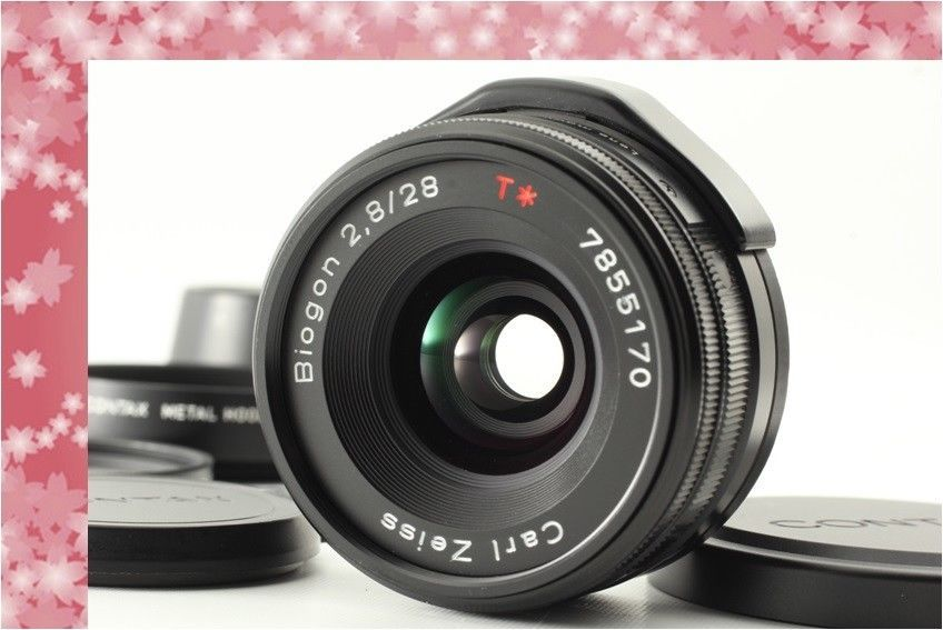 Top Mint] Contax Carl Zeiss Biogon T* 28mm f2 8 Black For G1 G2 from
