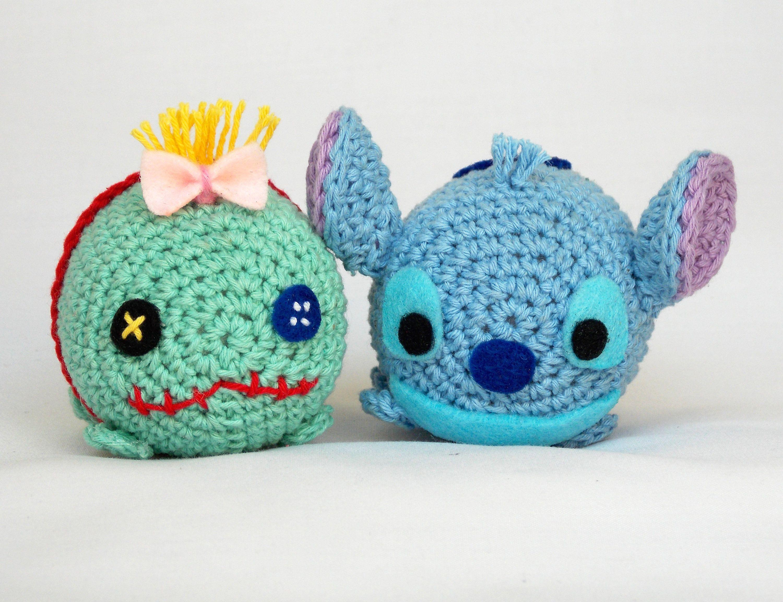 Tsum tsum disney stitch and scrump amigurumi pattern by LennsCraft ...