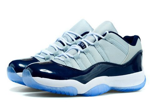 the best attitude e40e0 6b7d4 Air Jordan 11 Low Georgetown Grey Mist White Midnight Navy ...