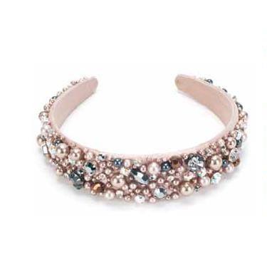 numerosi in varietà l'atteggiamento migliore vera qualità Cerchietto Raso Skin con cristalli e perle Swarovski ...