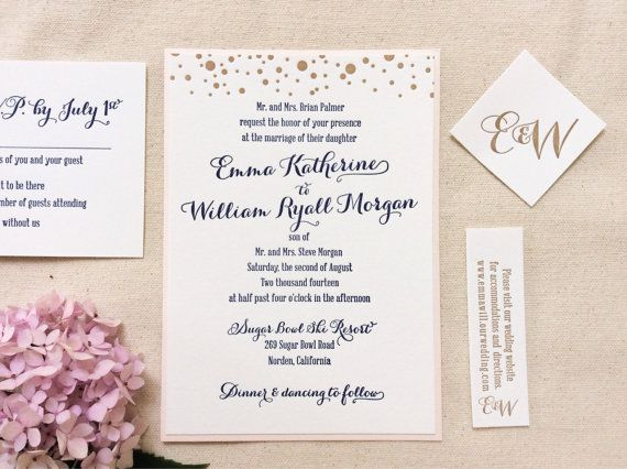 Letterpress Wedding Invitation Navy Blush And By DinglewoodDesign 600 Add Anchor They