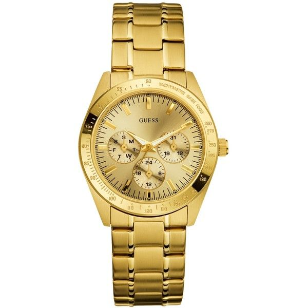 GUESS Women'S Chase Gold-Tone Watch found on Polyvore