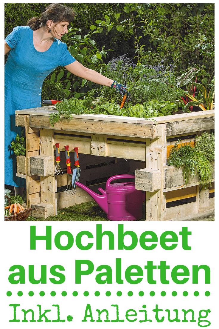 Hochbeet aus Paletten #palettengarten