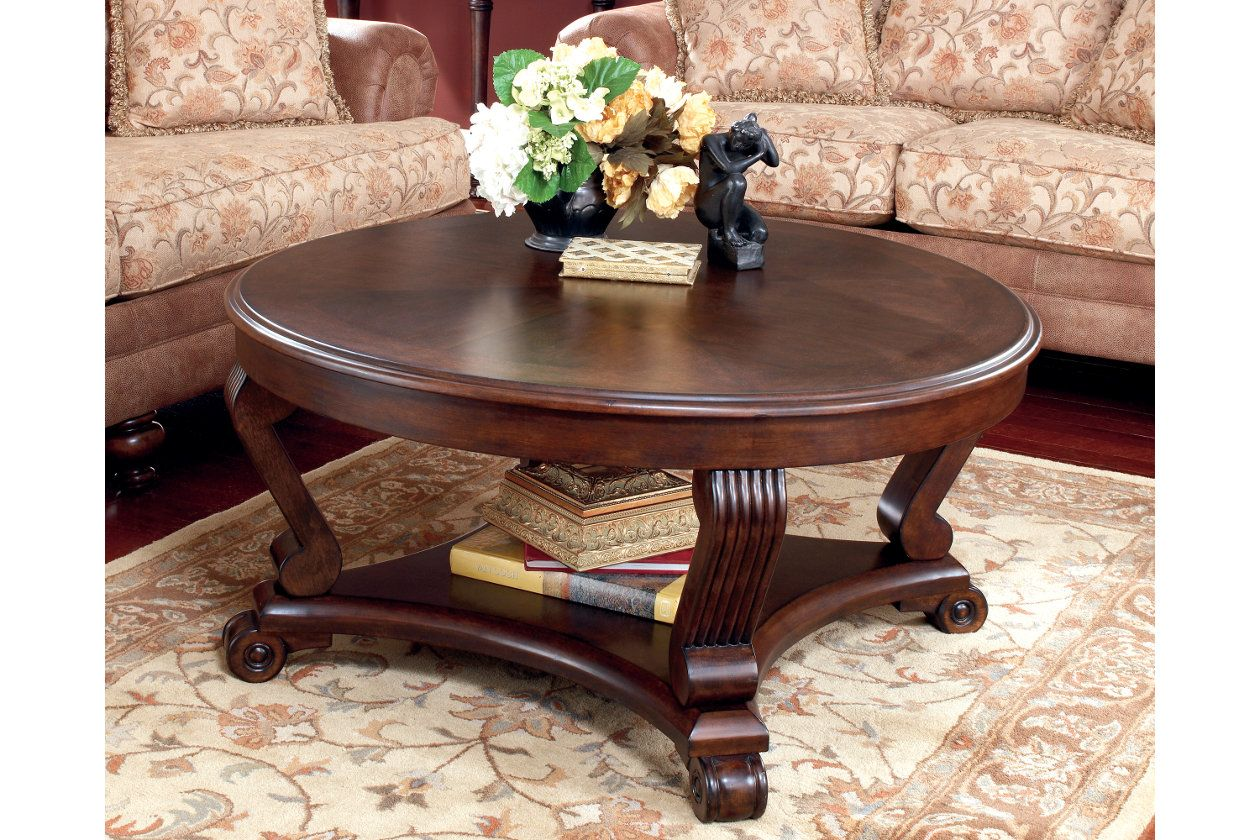 Brookfield Coffee Table Ashley Furniture Homestore Round Wood