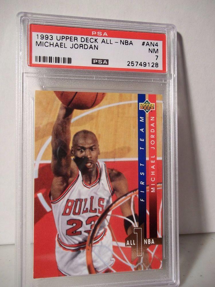 1993 upper deck michael jordan psa nm 7 basketball card