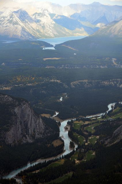 Bow River From Sulfur Mountain