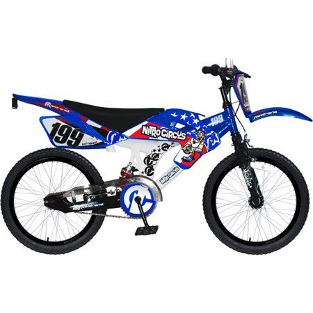 18 inch Nitro Circus Motobike Bicycle, Blue | Products