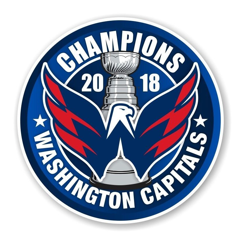 f320b88dfa204e Washington Capitals 2018 Stanley Cup Champions Round Decal / Sticker Die cut