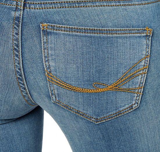 Jeans im Stone-Wash für Frauen (unifarben, klassischer Verschluss mit Knopf und Reißverschluss) - TOM TAILOR