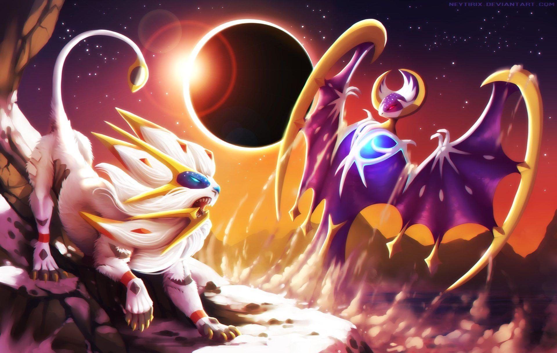 Pokemon Pokemon Sun And Moon Lunala Pokemon Pokemon Sun And Moon Solgaleo Pokemon 1080p Cool Pokemon Wallpapers Pikachu Wallpaper Cute Pokemon Wallpaper