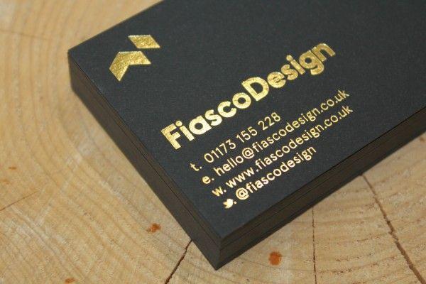 Fiasco Foil Block Business Cards Fiasco Design Gold Foil Business Cards Printing Business Cards Creative Design Agency