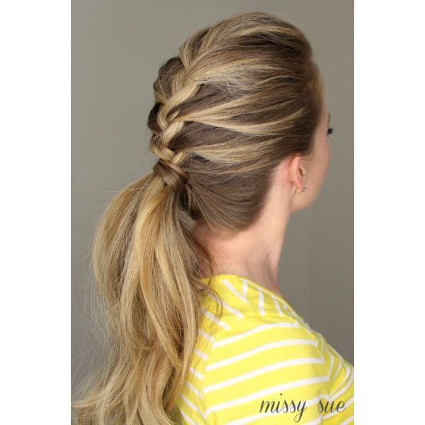 50 Fabulous French Braid Hairstyles to DIY Divine Caroline featuring polyvore hair hair styles hairstyles