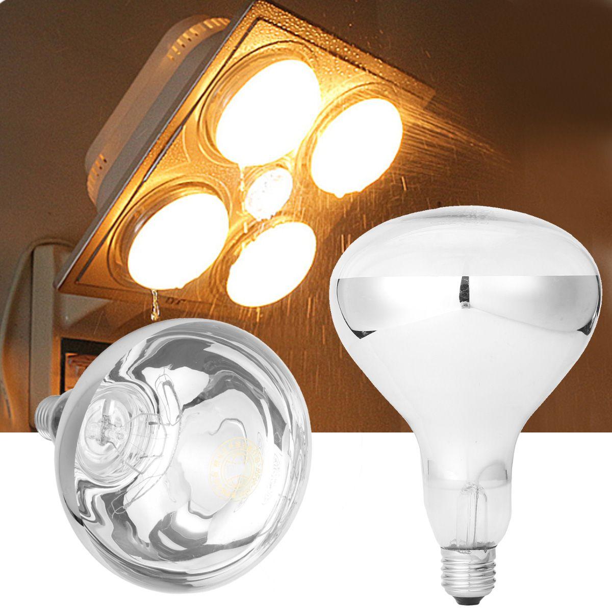 E27 275w Infrared Heat Bulb For Ceiling Exhaust Fan Bathroom Heater Ac220v Bathroom Heater Ceiling Exhaust Fan Led Light Bulbs