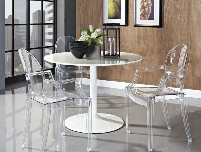 Pourquoi choisir la chaise design transparente 40 raisons en photos d coration int rieure - Chaise salle a manger transparente ...