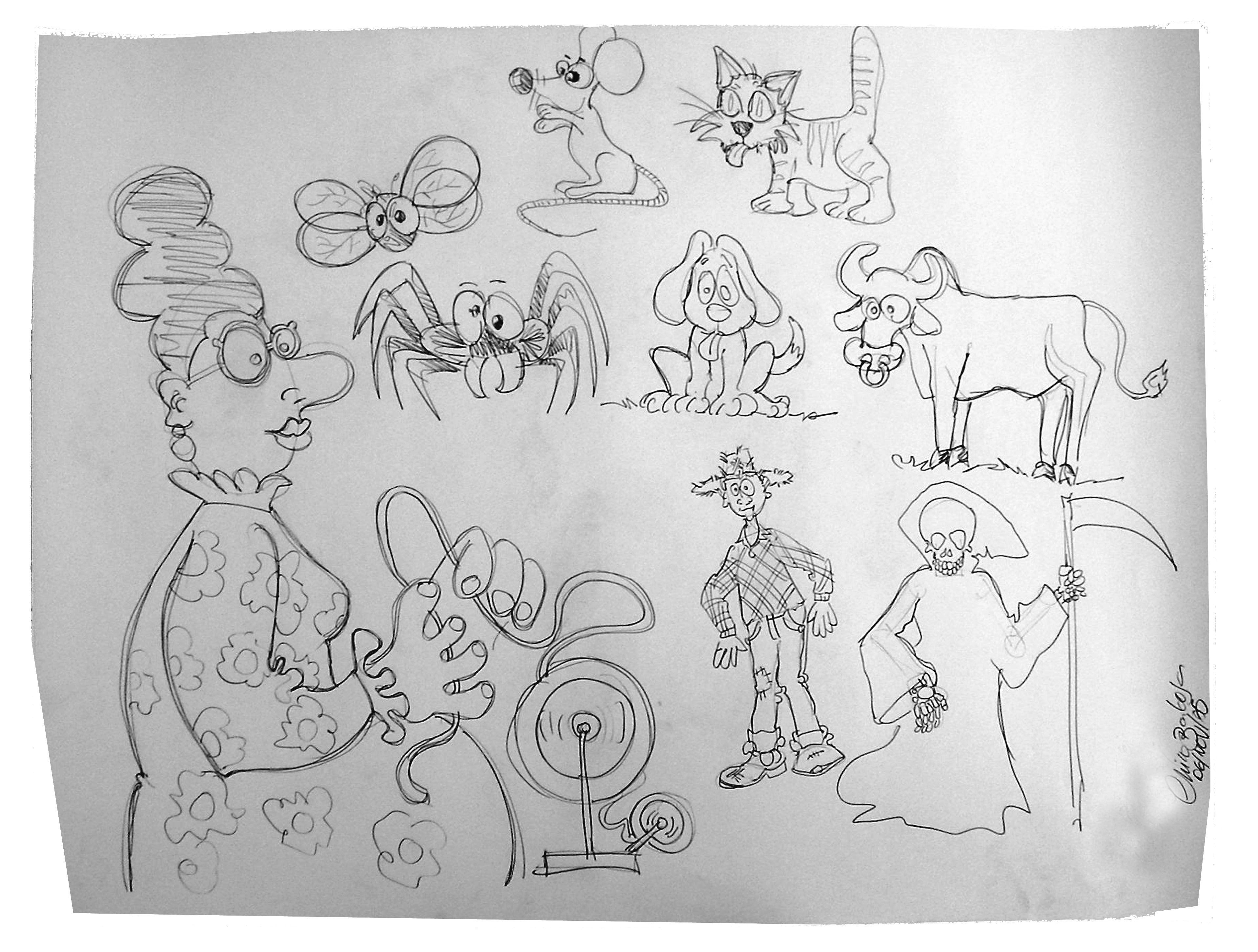 A Velha A Fiar By Chico Com Imagens Desenhos Dia Do Pai