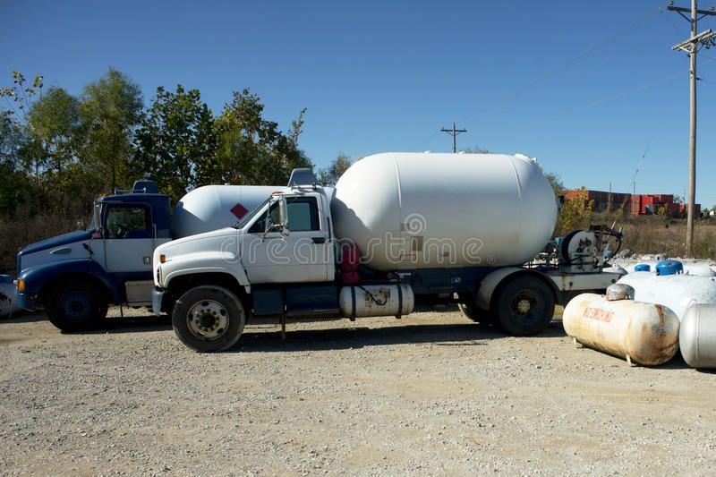 Propane Trucks. Propane tank trucks at a retail propane