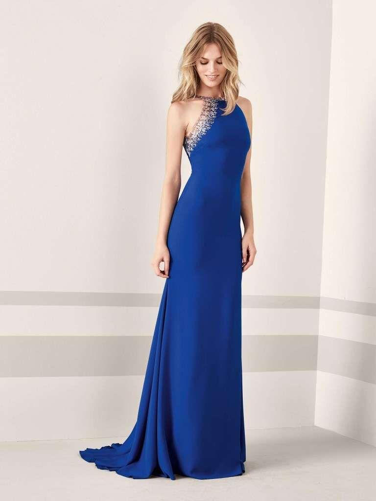bfa8de109f7e Abiti da cerimonia Pronovias 2019 - Vestito blu con cristalli Pronovias