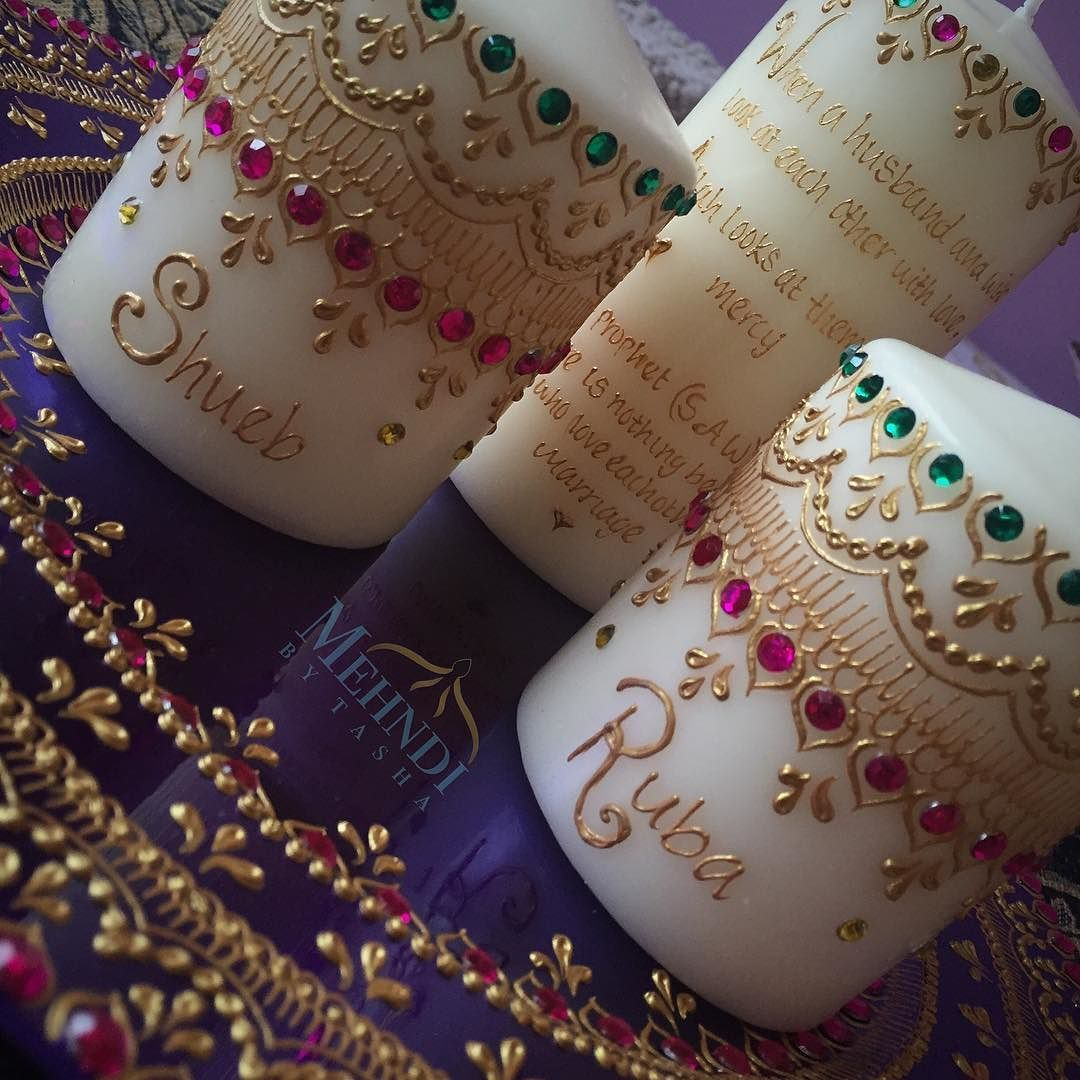 Mehndi Ceremony Wishes : Personalise your candles with messages names dates and