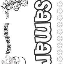 Girls Name Coloring Pages Samantha Girly Name To Color Name Coloring Pages S Girl Names Coloring Pages