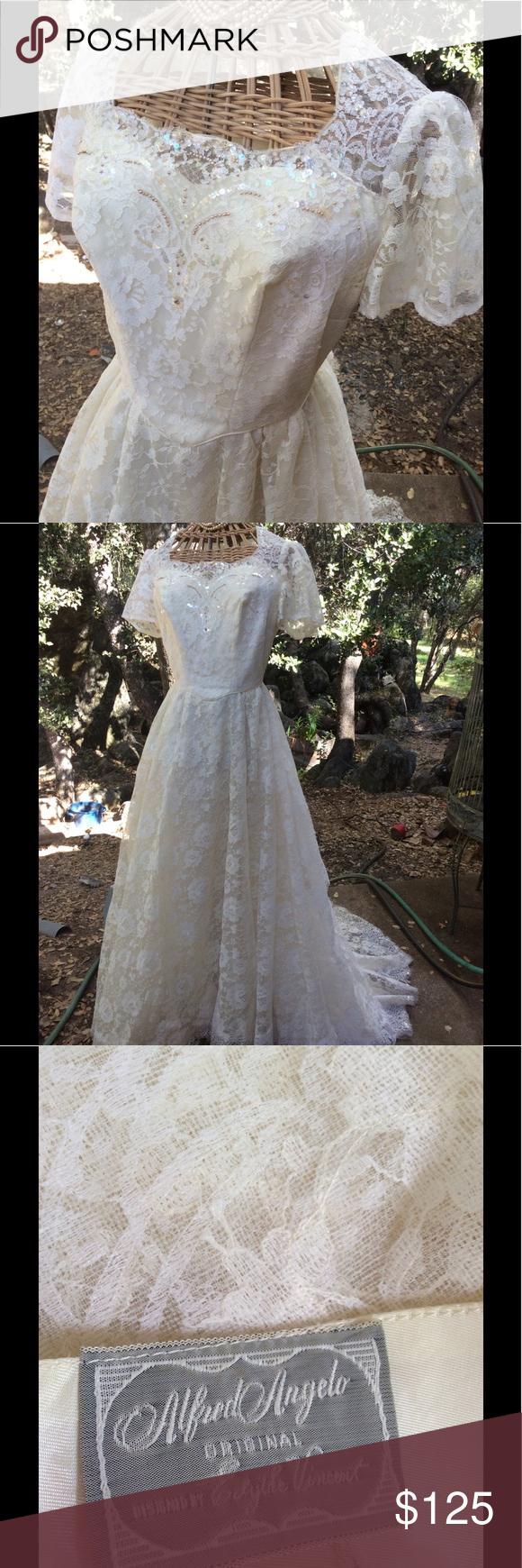 Vintage wedding gown midcentury alfred angelo s my posh closet