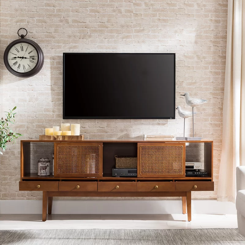 Pin By Alison Grasso On Apt Makeover Solid Wood Tv Stand Small Apartment Decorating Living Room Modern Media Console
