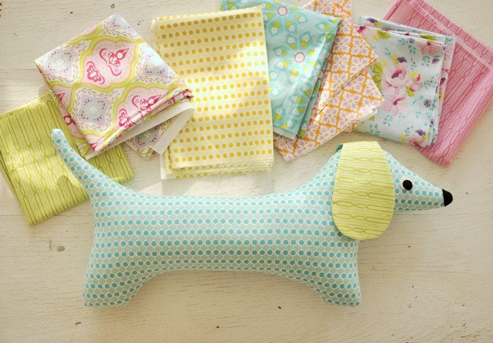Stuffed Animal Pattern - PDF Sewing Pattern - Doxie Softie - Dog ...