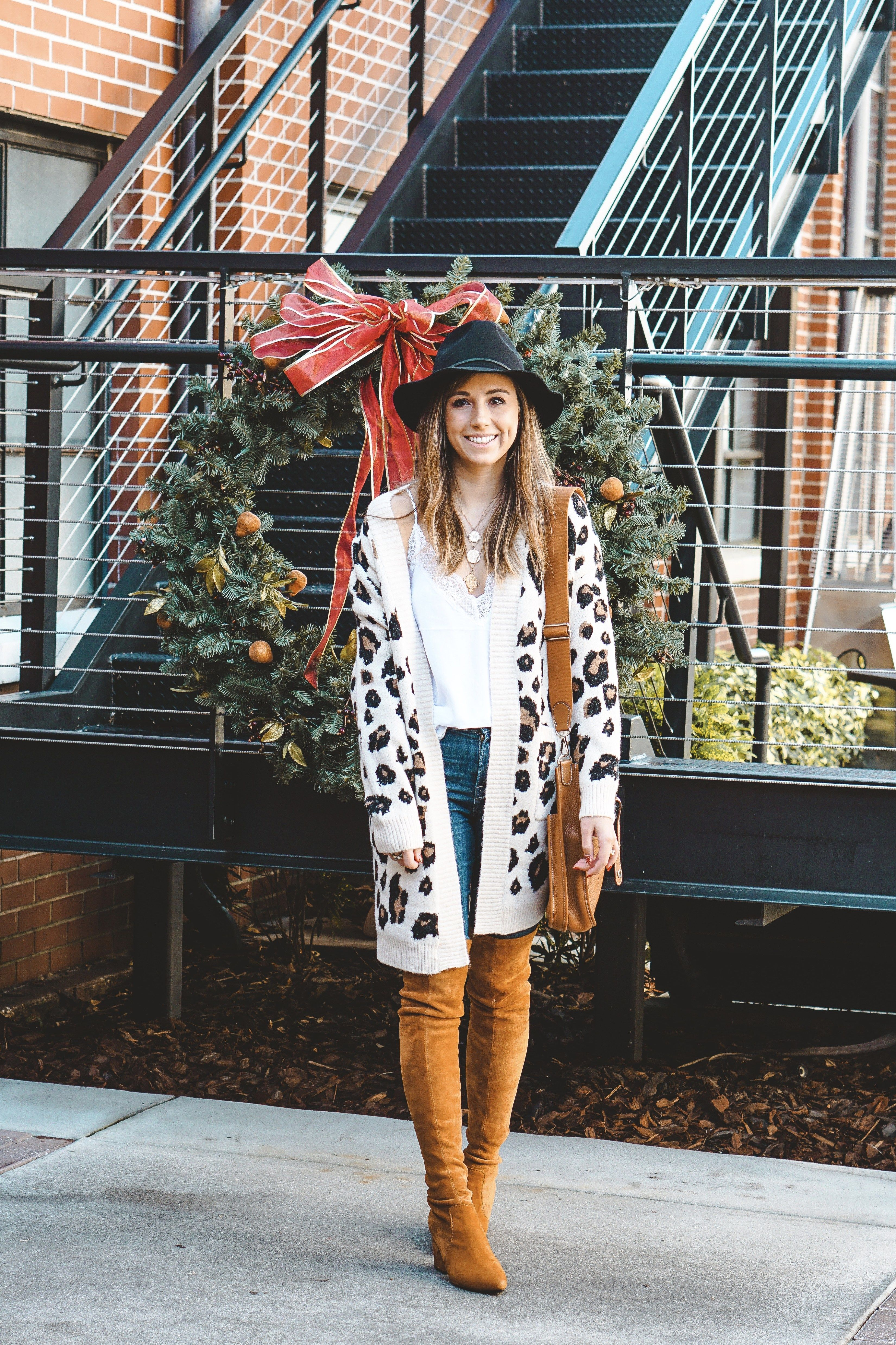 Red Dress Leopard Cardigan Goodnight Macaroon Marlo Over The Knee Boots Hermes Evelyn Bag Brixton Hat Vici Lay How To Wear Sweater Trends Destroyed Sweater Shop the latest street style fashion at goodnight macaroon! pinterest