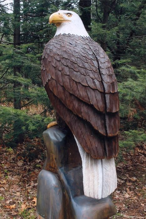 Eagle wood carving design woodworking