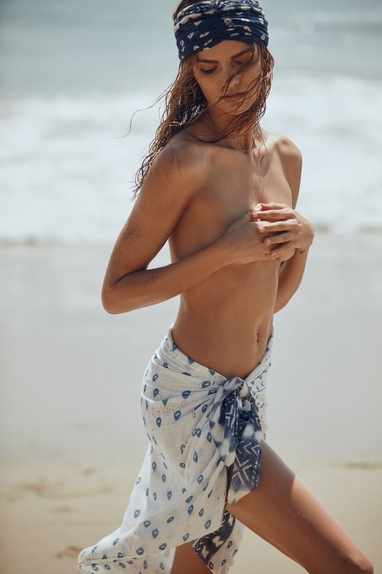 Sexy boho girl nude think, that