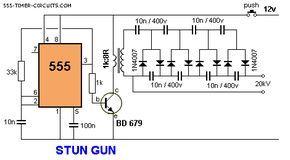 circuito de taser   Idéias   Hobby electronics, Circuit diagram