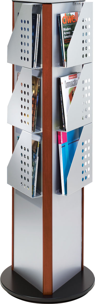 magazine best custom of decoration holder rack holders rotating new brochure acrylic outdoor stand