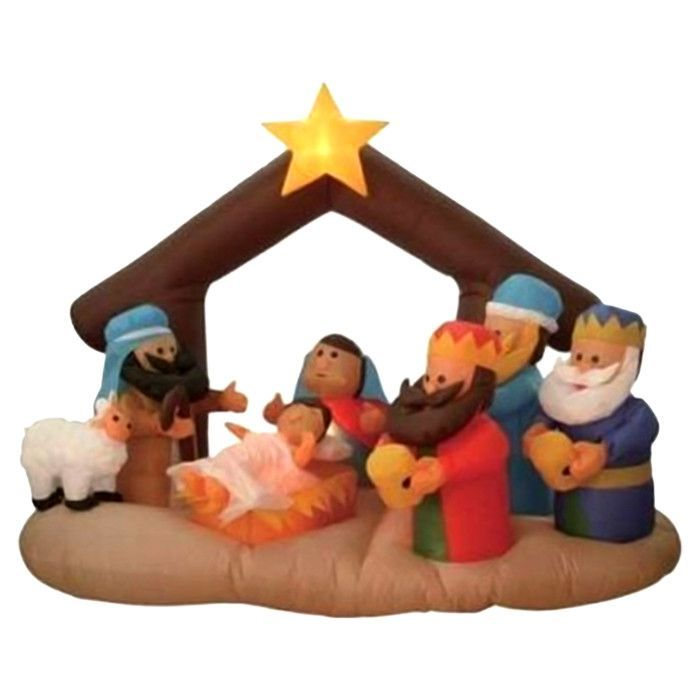found it at wayfair 6 long christmas inflatable nativity scene under stable - Wayfair Outdoor Christmas Decorations