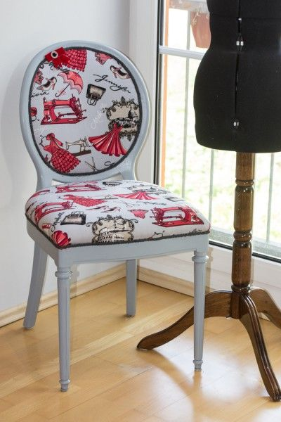 Alter Stuhl In Neuem Kleid Alte Stühle Stühle Beziehen