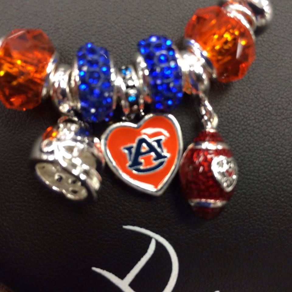 Davinci Charms Bracelet - Auburn davinci collegiate heart dangle bracelet 9 charm with free bracelet davinci