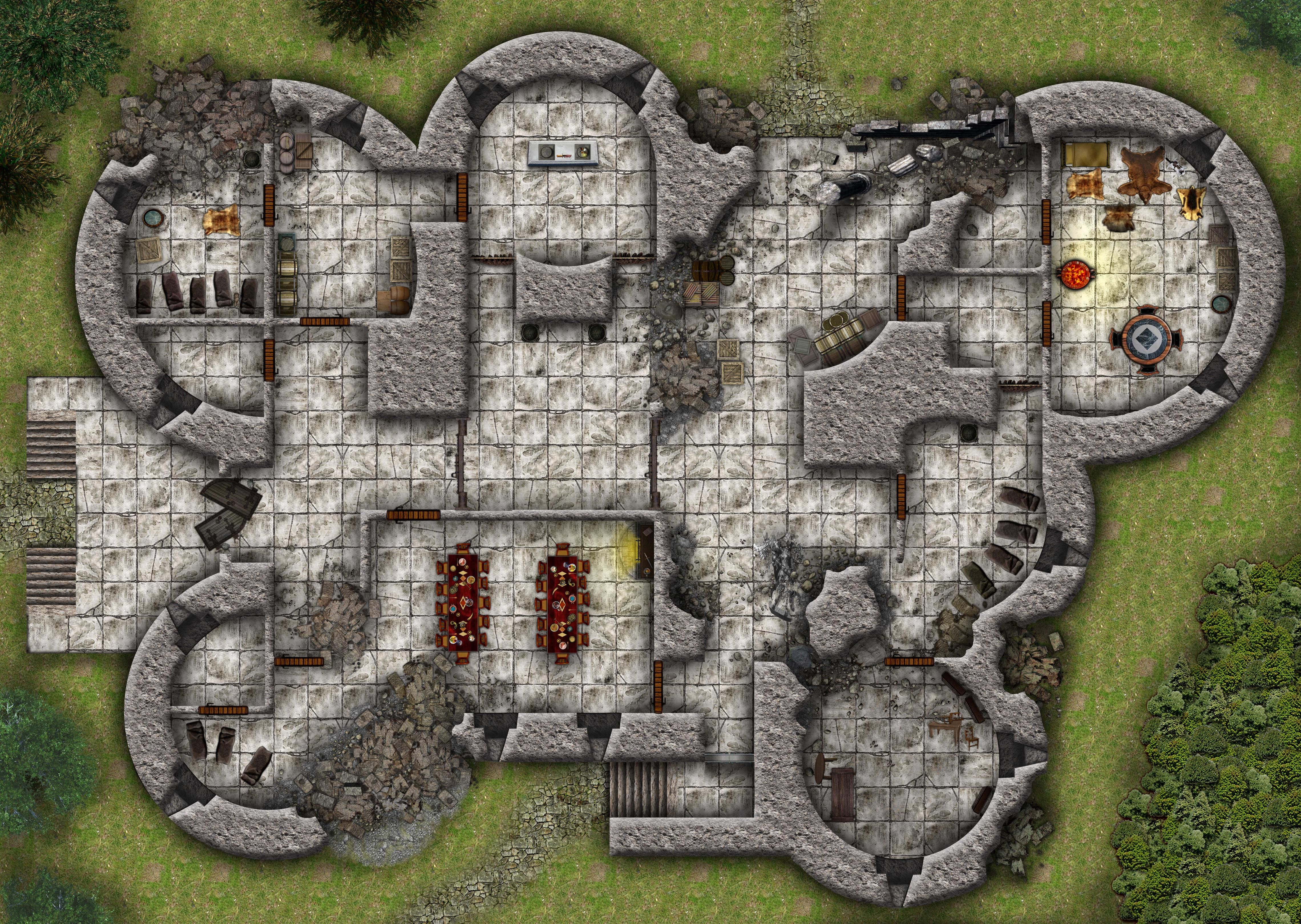 Dynamic image with cragmaw hideout printable map