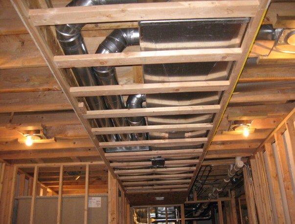 covers duct work basements finish basements wall work covers basements