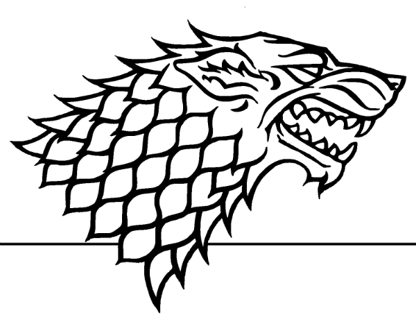 Game Of Thrones Colouring In Page Stark House Stark Sigil House Stark Stark Sigil
