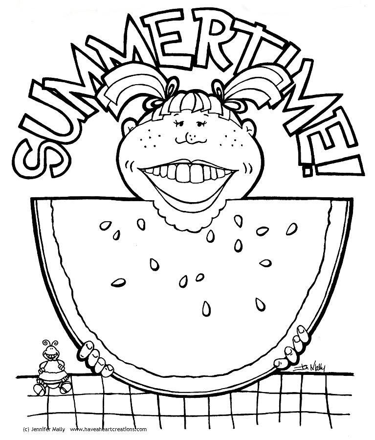 Watermelon Coloring Page Google Search Summer Lovin Pinterest