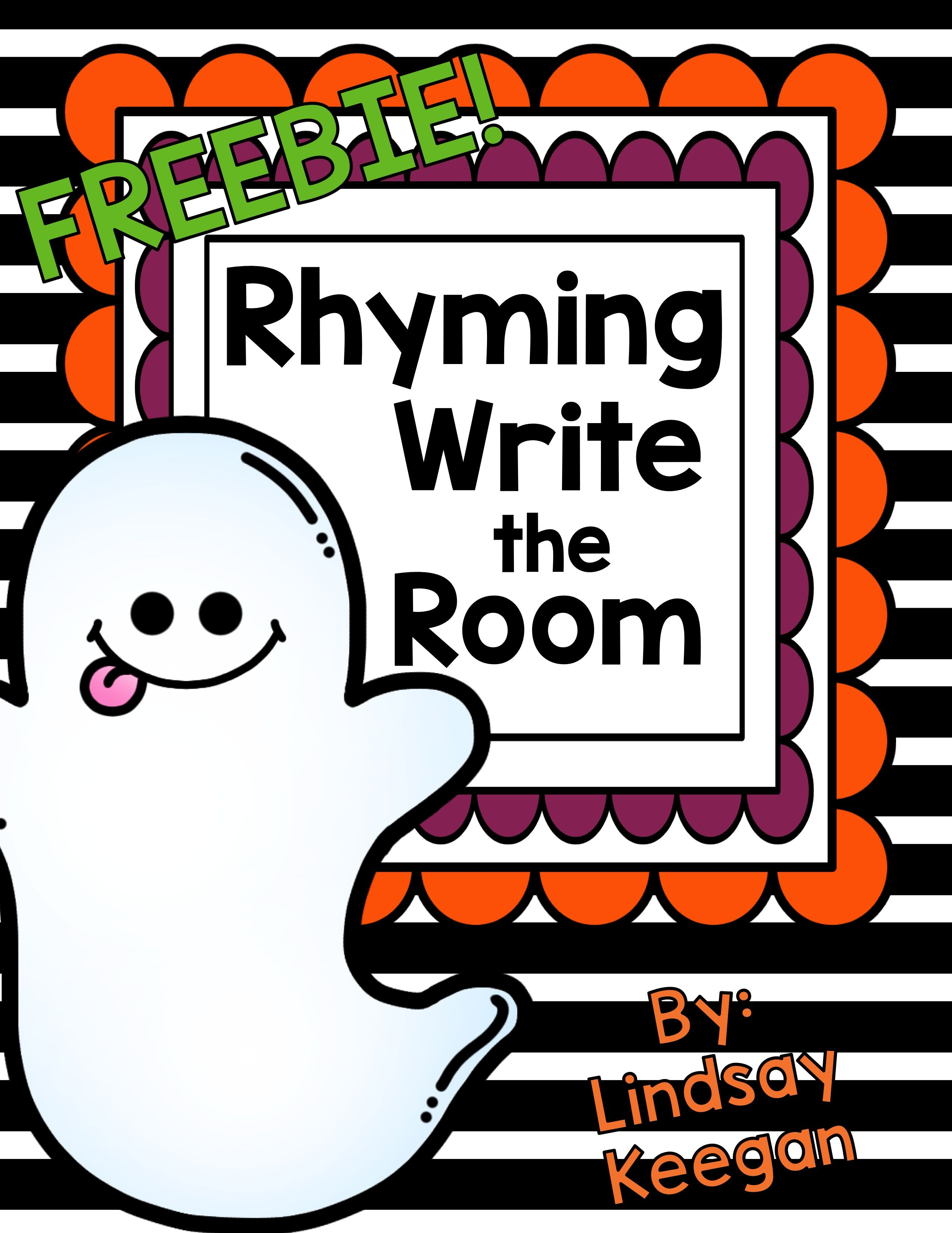 Rhyming Write The Room Freebie